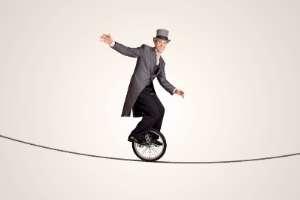 mann auf einrad