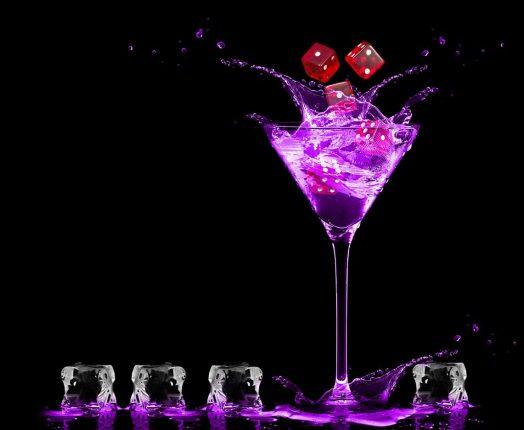 casino drink getränk das mit led beleuchtet ist